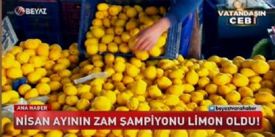 beyaz tv ana haber - Nisan ayının zam şampiyonu limon oldu!