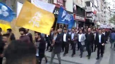Sivas'ta Türkçülük günü yürüyüşü düzenlendi