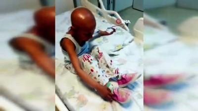 Kanser hastası küçük Fadime'nin pembe odasına kavuşma anları kamerada