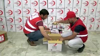 Kızılay Erciş'te ramazan yardım kolisi dağıttı - VAN