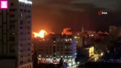 - İsrail savaş uçakları Gazze'de bir binayı vurdu - İsrail'in hava saldırılarında biri bebek 3 Filistinli hayatını kaybetti
