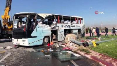 isci servisi -  Konya'da işçi servisi ile tır çarpıştı, olay yerine salık ekipleri sevk edildi: 1 ölü çok sayıda yaralı var