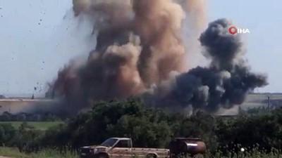 sivil savunma -  - Suriye İle Rus Uçak Ve Helikopterleri İdlib Kırsalını Bombaladı: 4 Ölü