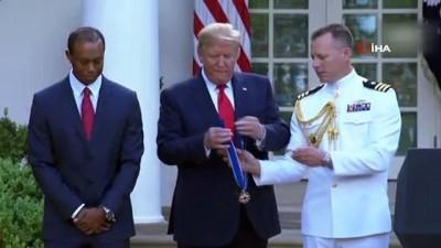 rekor -  - Donald Trump'tan Golfçü Tiger Woods'a Özgürlük Madalyası