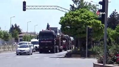 Suriye'ye zırhlı iş makinesi sevkiyatı