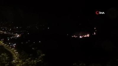 Giresun'da ki orman yangını havadan görüntülendi