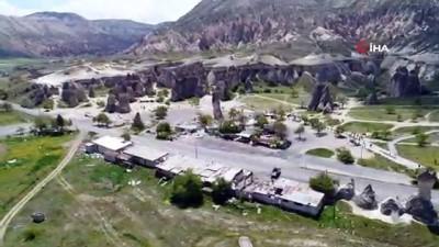 Kapadokya'da 67 kaçak yapı yıkıldı...Yıkımların tamamlandığı bölge havadan görüntülendi