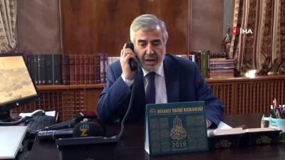 sabah ezani -  İstanbul Müftüsü Yılmaz, telefon başına geçip fetva hattına gelen soruları yanıtladı