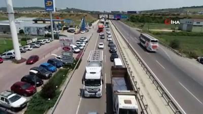 ramazan ayi -  Bayram trafiği havadan görüntülendi