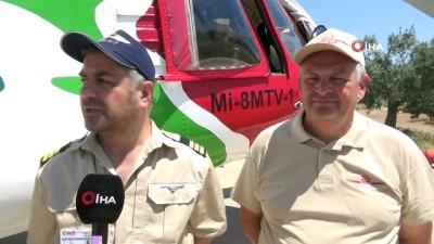 Kazdağları'nda Ateş kuşları göreve başladı...Mi-8MTV-1 tipi yangın ve arama kurtarma helikopteri olası orman yangınlarına müdahale edecek