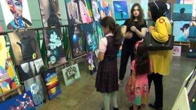 Genç öğrenciler usta ressamları aratmadı