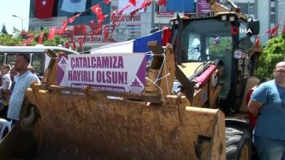 İETT VE İSKİ'den Çatalca Belediyesi'ne araç yardımı