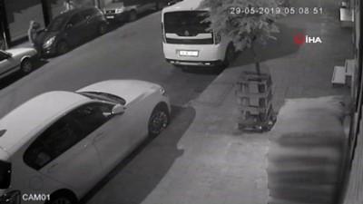kamera -  Akü hırsızlığı kamerada