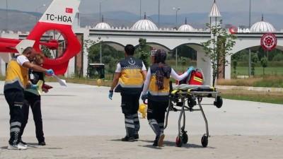 ilk mudahale -  Ambulans helikopter kalp krizi geçiren hasta için havalandı