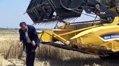 Diyarbakır'da yılın ilk buğday hasadı başladı