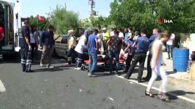ilk mudahale -  Elazığ'da direksiyon hakimiyetini kaybeden sürücü otomobile çarptı: 8 yaralı Haberi