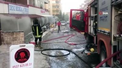Şanlıurfa'da işyerinde çıkan yangın korkuttu