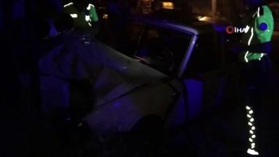 Tekirdağ'da plakasız araç duvara tosladı: 1 ağır yaralı