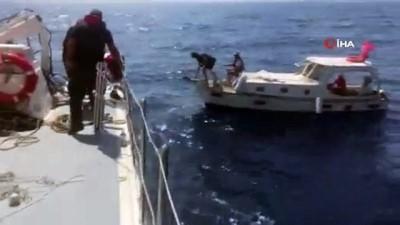 istankoy - - Yunan adalarına sürüklenen Türk teknesini Sahil Güvenlik ekipleri kurtardı
