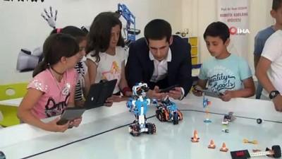 matematik dersi -  Bitlisli öğrenciler geleceğin teknolojisini öğreniyor