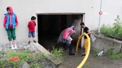 su baskini -  Bolu'da sağanak yağış su baskınlarına neden oldu