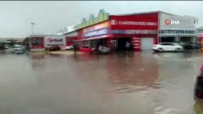 yagan -  Eskişehir'de aniden bastıran yağmur ve dolu vatandaşlara zor anlar yaşattı