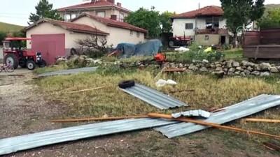 yagan - Gölbaşı'nda fırtına hayatı olumsuz etkiledi - ANKARA