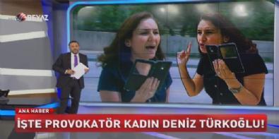 mansur yavas - İşte provokatör kadın Deniz Türkoğlu!