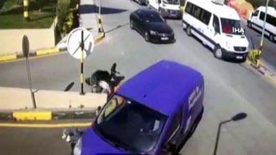polis merkezi -  Maslak'ta feci kaza kamerada