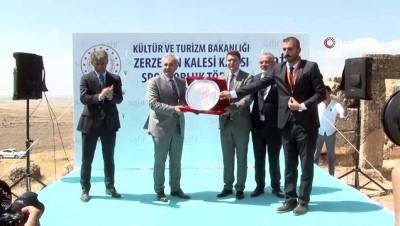 Zerzevan Kalesinde Kültür ve Turizm Bakanlığı ve Safir tuz arasında sponsorluk imza töreni gerçekleşti