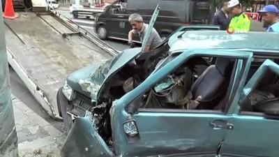 Aşırı hız kazaya neden oldu: 1 yaralı