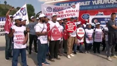 """isten cikarma -  - Emek Ve Adalet Yürüyüşünde CHP Genel Başkanına çok sert sözler: """"Emekçi kardeşlerimiz CHP'ye Türkiye'yi dar getirir"""""""