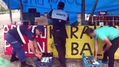 zeytinyagi -  Karayolu kenarında sahte bal satışına şok baskın