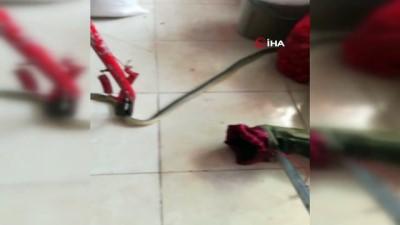market -  Markete giren yılan itfaiye ekipleri tarafından yakalandı