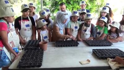 ogrenciler - Mersin'de çocuklar için tarım kampı