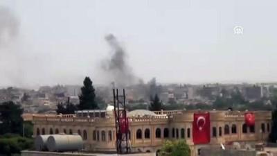 yukselen - YPG/PKK'nın sözde asayiş binasının önünde saldırı - MARDİN