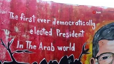 - İdlibli ressam Mursi'nin resmini duvara çizdi