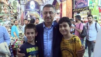 alisveris - Cumhurbaşkanı Yardımcısı Fuat Oktay, Kapalı Çarşı'yı gezdi - İSTANBUL