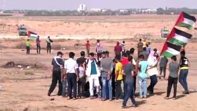 mermi - Gazze sınırındaki 'Büyük Dönüş Yürüyüşü' gösterileri (1) - GAZZE