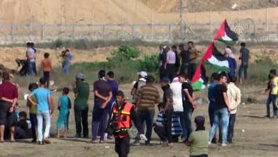 mermi - Gazze sınırındaki 'Büyük Dönüş Yürüyüşü' gösterileri (2) - GAZZE