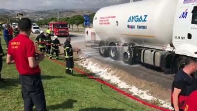 Kırıkkale'de LPG tankerinde yangın
