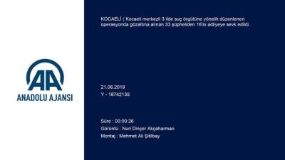 Kocaeli merkezli suç örgütü operasyonu - KOCAELİ