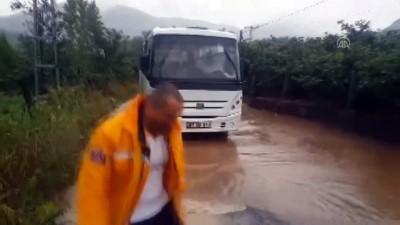 koy yollari - Zonguldak'ta sağanak