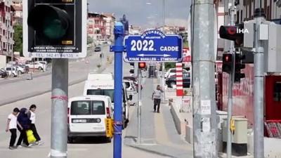 Başkent'te su baskınları sonrası zarar gören tabelalar yenilendi