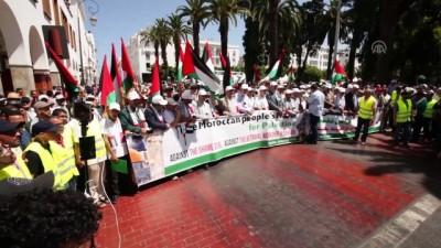 alisveris - Fas'ta Yüzyılın Anlaşması ve Bahreyn çalıştayı protesto edildi - RABAT