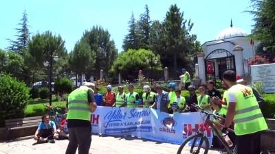 İHH gönüllülerinin Söğüt'ten Domaniç'e bisiklet turu - KÜTAHYA