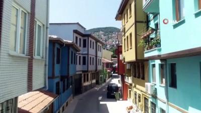 Bursa'da 2400 yıllık sokaklar yeniden canlandı...Tarihi Hisar Bölgesi havadan görüntülendi
