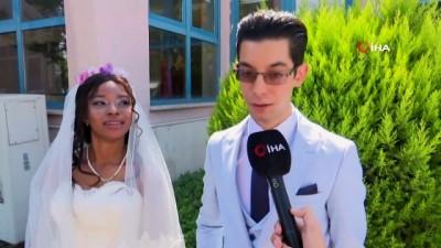 yabanci dil -  Denizli'ye Afrikalı gelin... Ölen babasının vasiyetini Afrikalı kızla evlenerek yerine getirdi