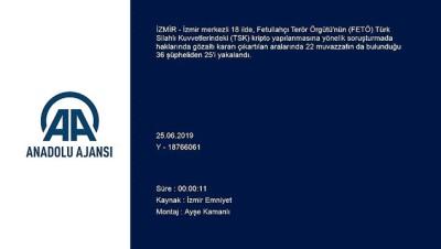 yakalama karari - FETÖ'nün TSK yapılanmasına operasyon - İZMİR