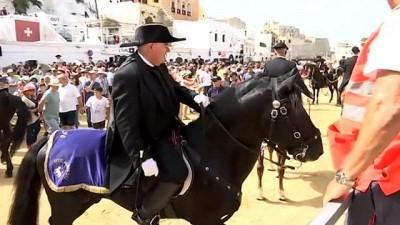İspanya'da  yüzyıllardır devam eden at festivali